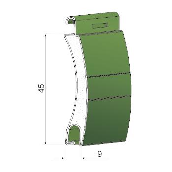 Profilo in alluminio coibentato | A45