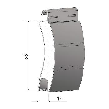 Profilo in acciaio coibentato | CS55