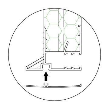 Coprifilo in PVC bianco per bordo cassonetto