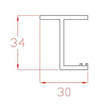 Guida in PVC bianco per cielino a scorrere in fibrocemento + XPS sp. 25 mm