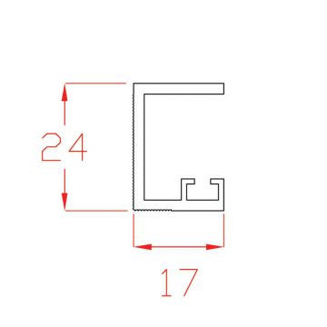 Profilo di battuta in PVC bianco per cielino a scorrere in MDF  sp. 14 mm