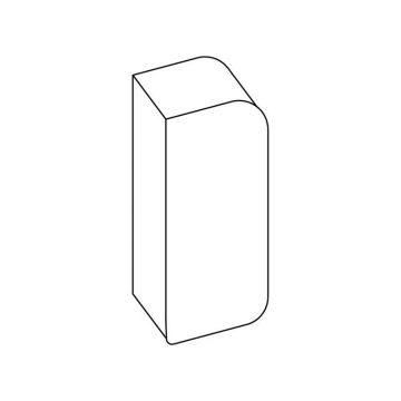 Tappo laterale per cornice frontale in PVC bianco