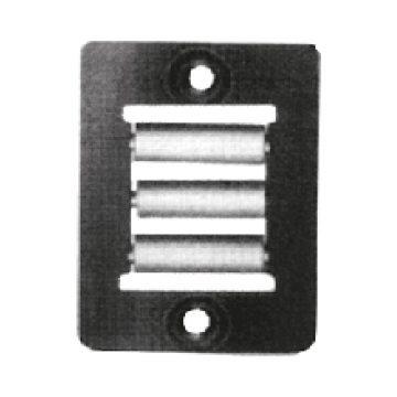 Guidacinghia verticale 3 rullini PVC