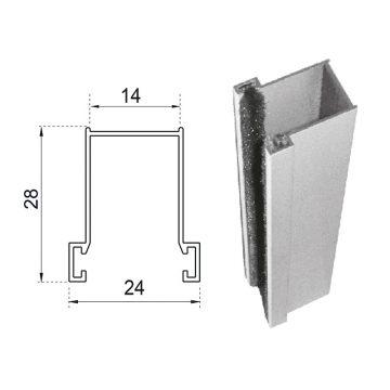 Guide in alluminio estruso a misura 28×14 mm