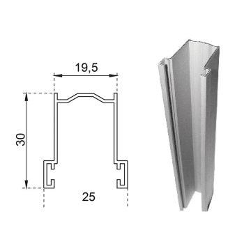 Guide in alluminio estruso a misura 30×19,5 mm