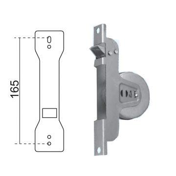 Avvolgitore semincassato 165 mm