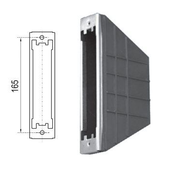Cassetta per avvolgitore da 165 mm, semincasso