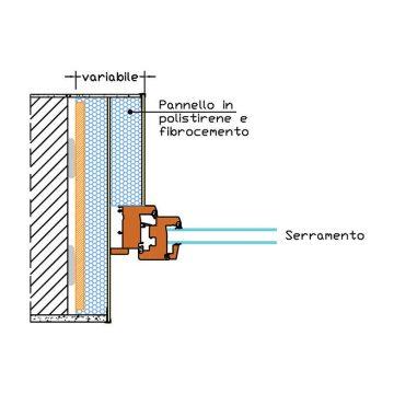 Ribassamento spalla (serramento posato in mazzetta)