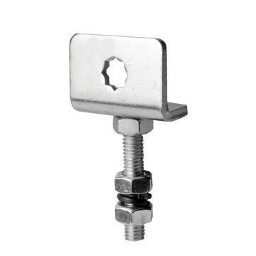 Supporto motore con regolazione verticale quadro 10 x 10 per murature esistenti
