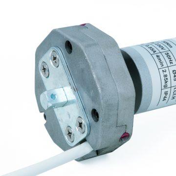 Motoriduttore con manovra di soccorso per rullo Ø 60 mm